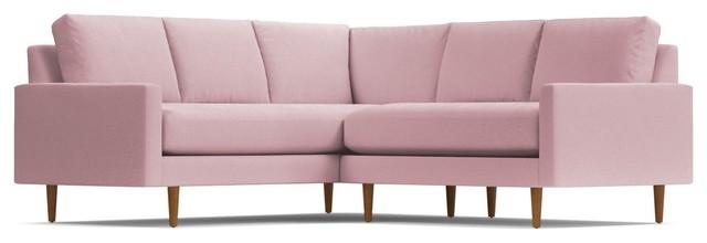 Scott 2-Piece L-Sectional Sofa, Blush Velvet