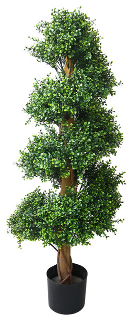 "Artificial Boxwood Spiral Tree, 48"" by Pure Garden"