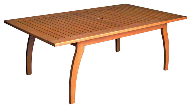 Royal Tahiti Yellow Balau Wood Outdoor Rectangular Coffee Table Dark Honey