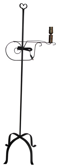 wrought iron floor lamp heart top  amish made - traditional - lighting hardware