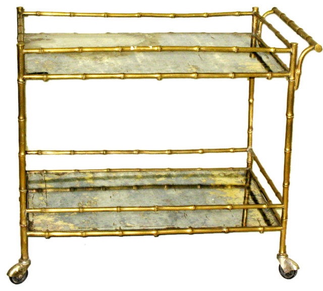 Faux Bamboo Drinks Cart by Bagues