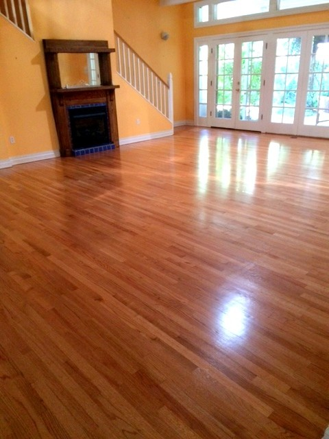 Sand And Finish Red Oak Floors Semi Gloss Traditional