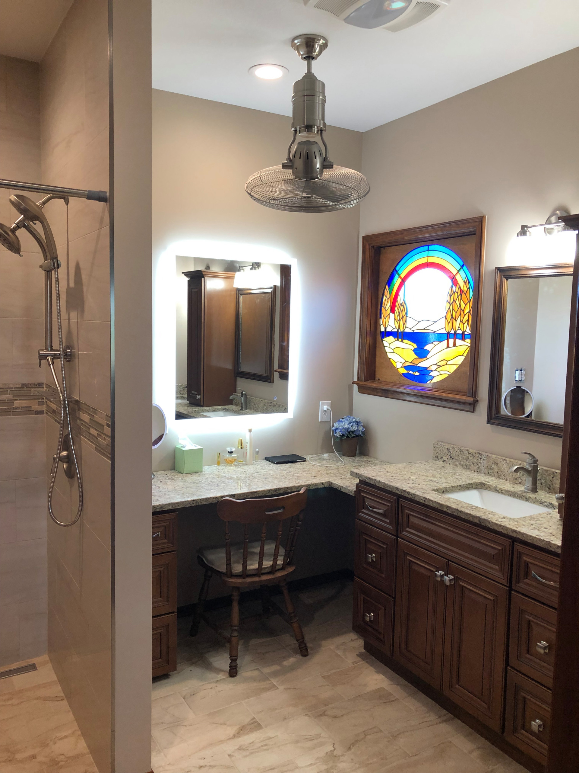 Traditional Master with Custom Stained Glass Window