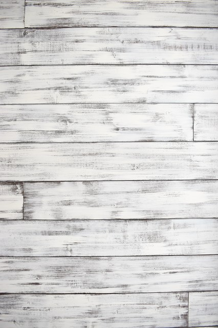 Wood Plank Wall Distressed White Brown Farmhouse Wall