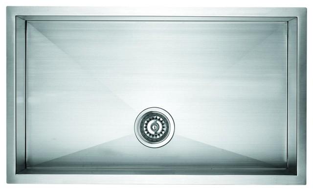 Zero Radius Undermount Single Bowl Sink.