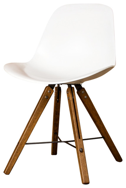 Good Shell Fumed Oak And White Dining Chair Dining Chairs