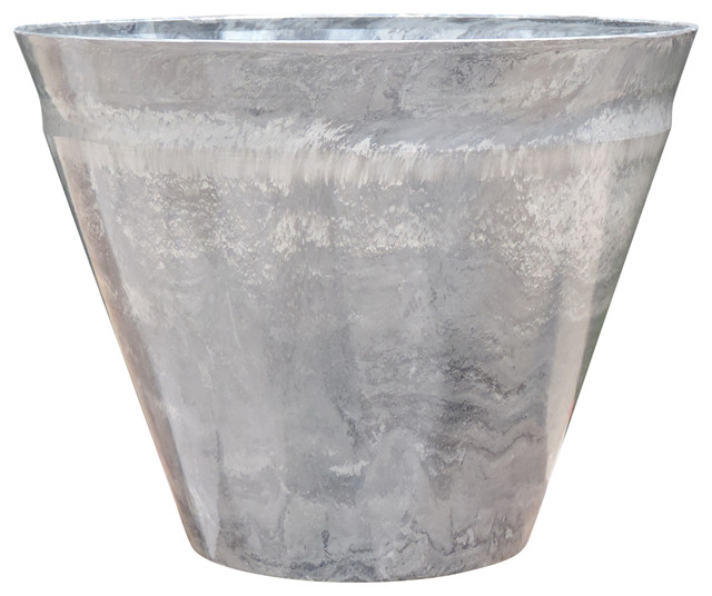 Nile Marble Planter Traditional Outdoor Pots And