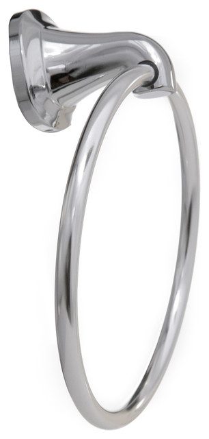 Arista Belding Collection Towel Ring, Chrome