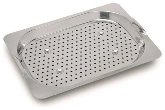 Franke OC 60S Orca Polished Stainless Steel Colander Contemporary Kitchen  Sink Accessories