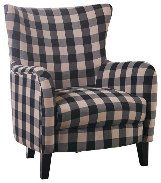 Exceptionnel Arador Club Chair, Black And White