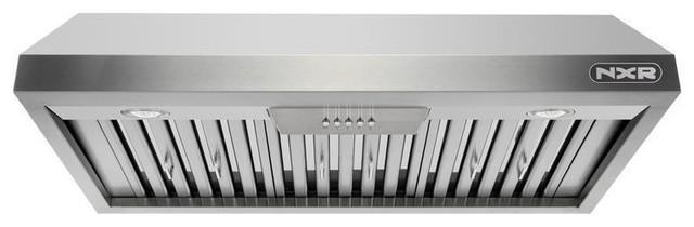 nxr 36 under cabinet range hood with light in stainless steel model rh houzz com 36 Inch Range Hood Black 36 Inch Range Hoods Broan