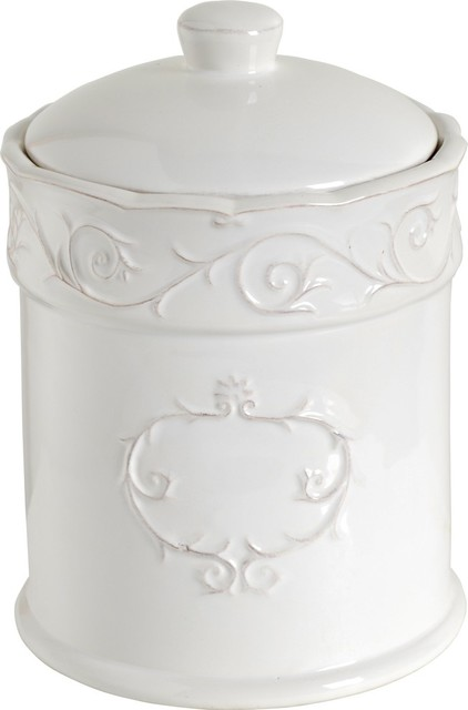 A Amp B Home Ceramic Canister Jar With Rubber Seal White