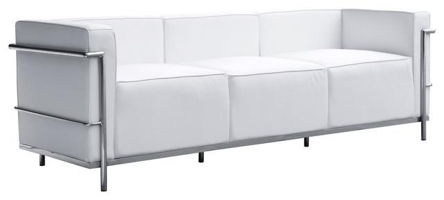 Fine Mod Imports Stainless Steel Sofa, White Finish - Modern - Sofas ...