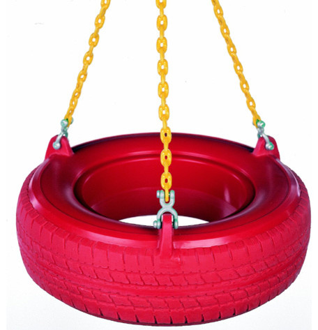 Plastic Tire Swing With Coated Chain Traditional Kids Playsets