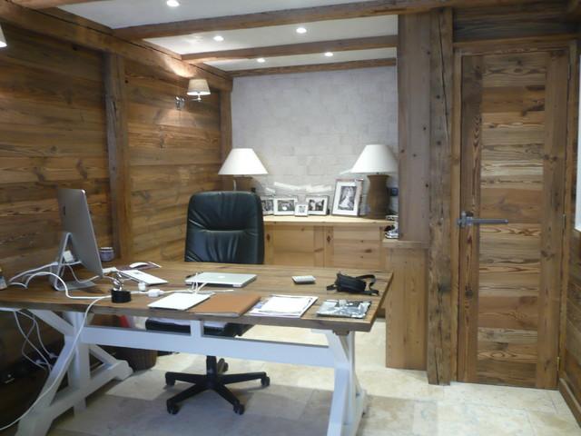Bureau montagne lyon par agencement intérieur bois