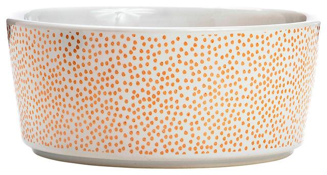 Specktacular Polka Dot Dog Bowl Rose Gold Small