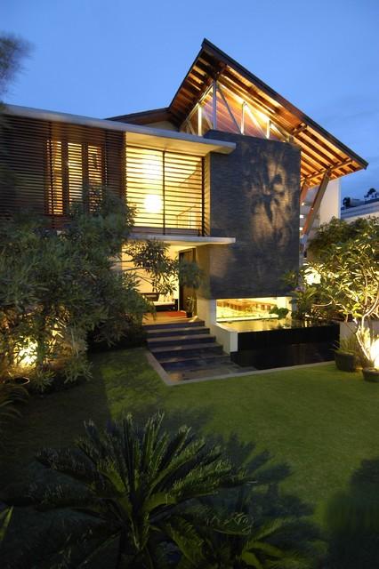 & modern tropical house