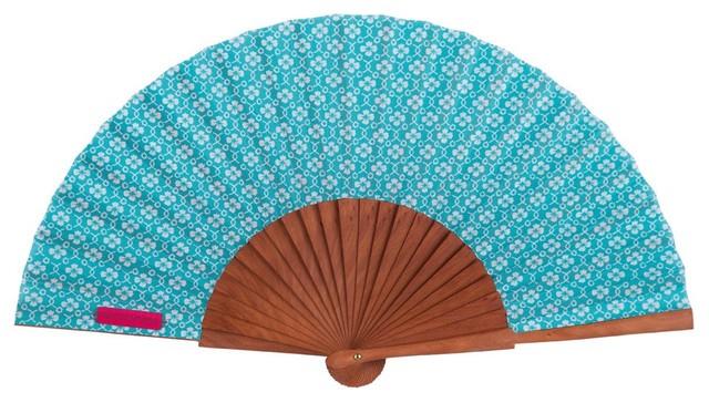 Vent De Boheme vent de boheme rosie fan, blue - contemporary - decorative objects