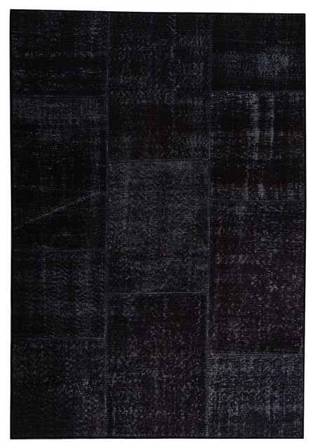 Contemporary Goyard 2u0027x3u0027 Rectangle Charcoal Area Rug Contemporary  Area Rugs