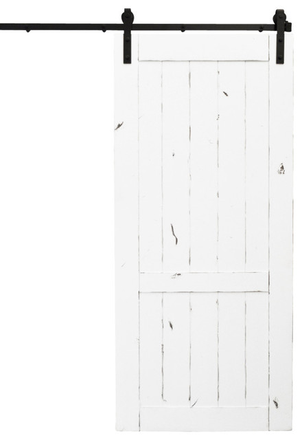 Dogberry Country Vintage Sliding Barn Door White