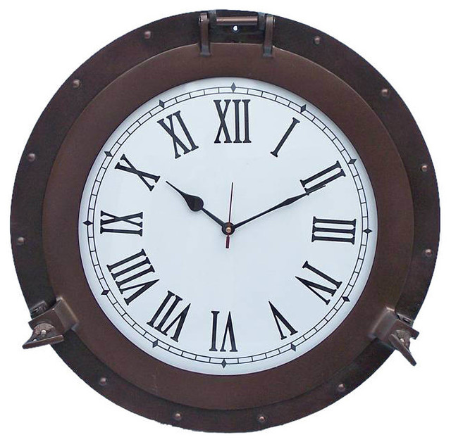 Clock 20 39 39 Nautical Wall Clock Beach Decor Transitional Wall Cl
