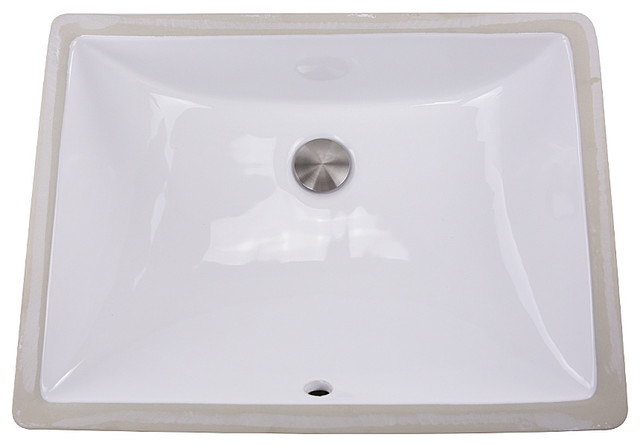 "Nantucket Sinks &x27; 18""x13"" Undermount White Ceramic Sink."