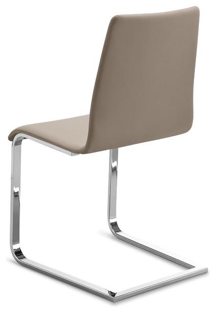 jude mono chair skill taupe chrome frame