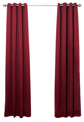 Back Tab And Rod Pocket Thermal Insulated Blackout Curtains Contemporary Curtains By Best