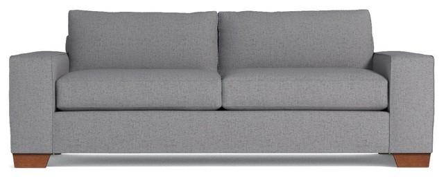 Melrose Queen Size Sleeper Sofa, Memory Foam Mattress, Mountain Gray.