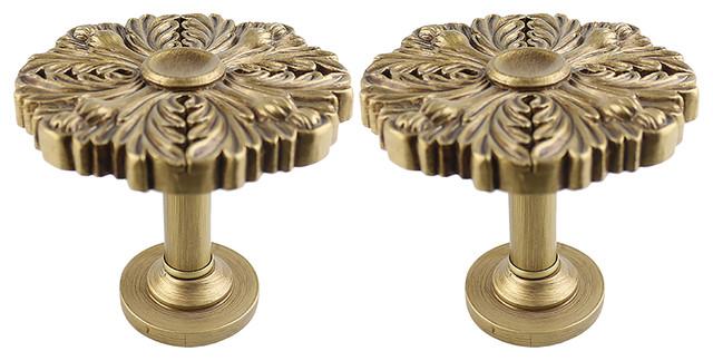Urbanest Set Of 2 Large Eve Drapery Medallion Holdback, Renaissance Gold.