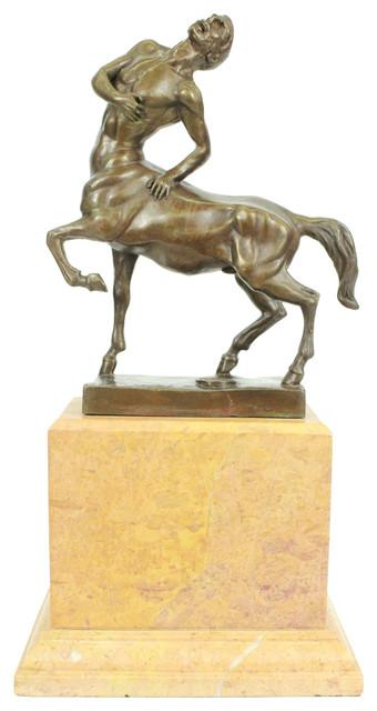 Usa bronze original aldo vitaleh centaur mythological creatation bronze sculp - Statue decorative d interieur ...