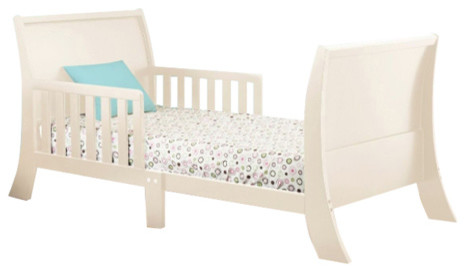 The Orbelle Louis Philippe Toddler Bed, French White.