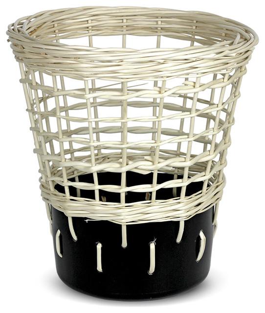 Bow Wastepaper Bin No.2, Bold Black