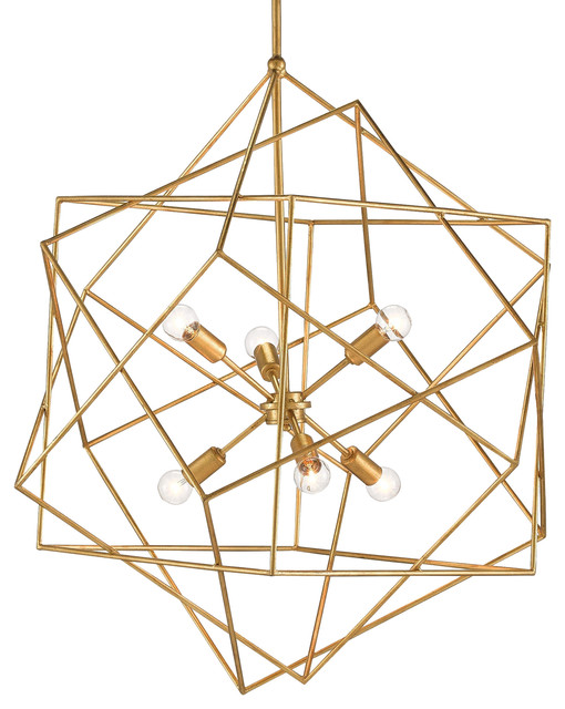 Dade Geometric Modern Gold Cubes Chandelier Modern Chandeliers By Kathy Kuo Home