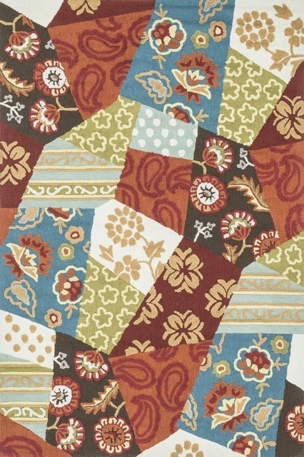 Loloi Rugs Juliana Collection Rust And Patch 7 6 X9