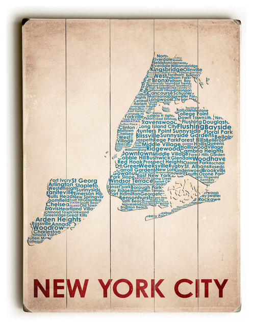 New York City Wooden Sign