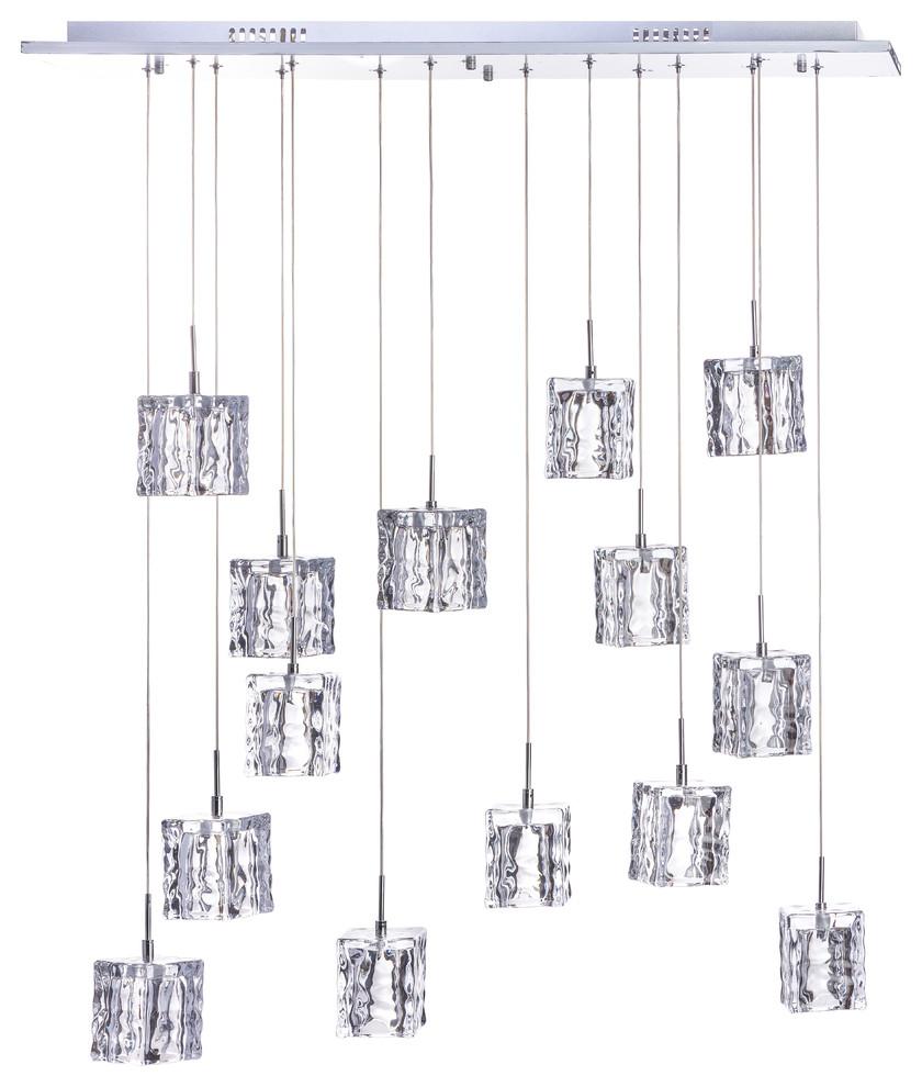 Finesse Decor Cubes Chandelier 14-Light