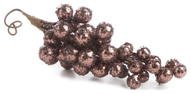 Sparkling Grape Cluster Stems, Set Of 4.