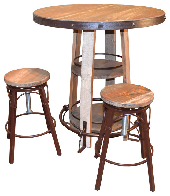 Bayshore Pub Table and Chairs 3 Piece Set Farmhouse  : farmhouse indoor pub and bistro sets from www.houzz.com size 556 x 640 jpeg 80kB