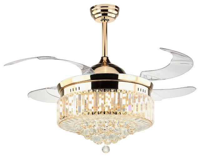 Dundee Ceiling Fan With Light Gold