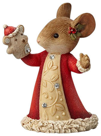 Enesco Heart of Christmas Mouse with Puppet Figurine - Traditional ...
