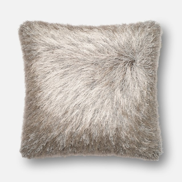 "Loloi Inc. Pillow, Silver, 22""x22""."
