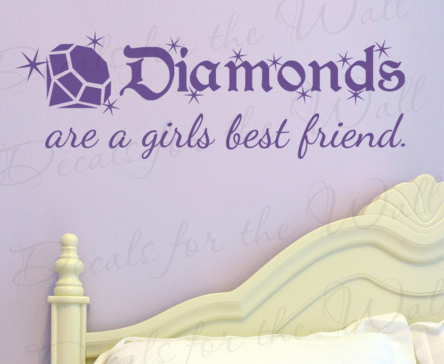 Wall Decal Sticker Quote Vinyl Art Lettering Diamonds Are