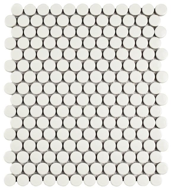 9 75 Quot X11 5 Quot Victorian Penny Mosaic Tiles Set Of 10