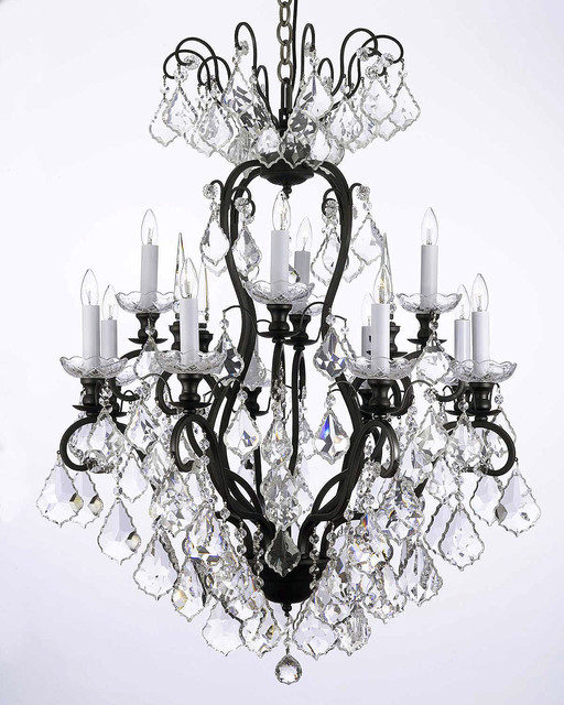 Gallery T40-640 12 Light 2 Tier Chandelier with Crystal Accents