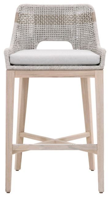 Stupendous Tapestry 30 Barstool Taupe White Flat Rope Outdoor Gmtry Best Dining Table And Chair Ideas Images Gmtryco