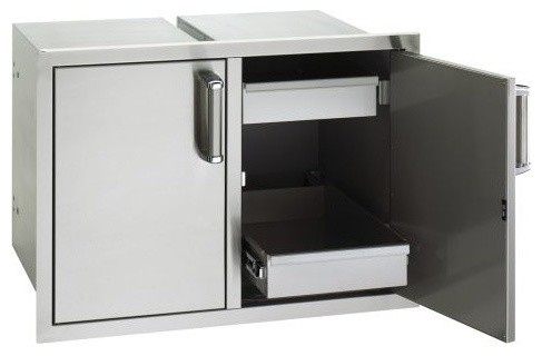 Flush Mount Double Access Door With 2 Dual Drawers.