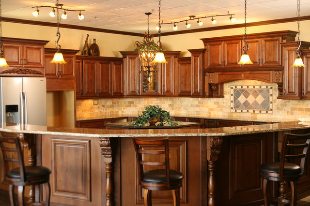 Bristol Coffee Kitchen Cabinets Home Design Photos - Traditional ...