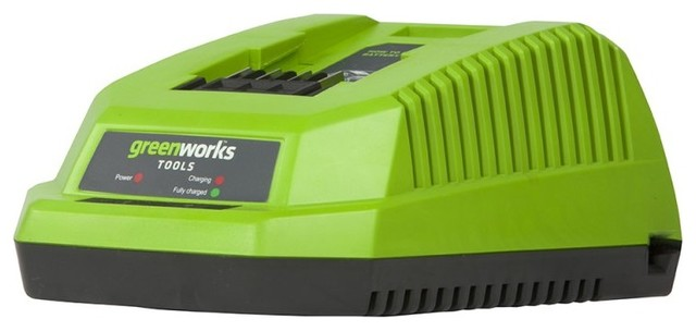 Greenworks G-Max 40v Li-Ion Charger.