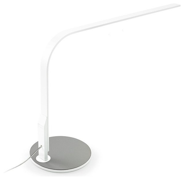 Lim360 Lamp, White And Silver.